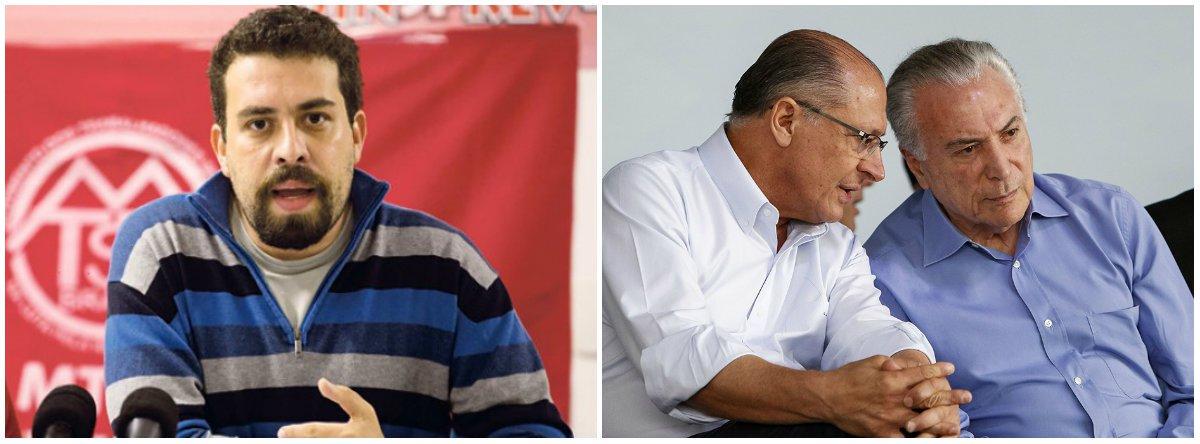 Boulos: eles não têm coragem para assumir que Alckmin é Temer