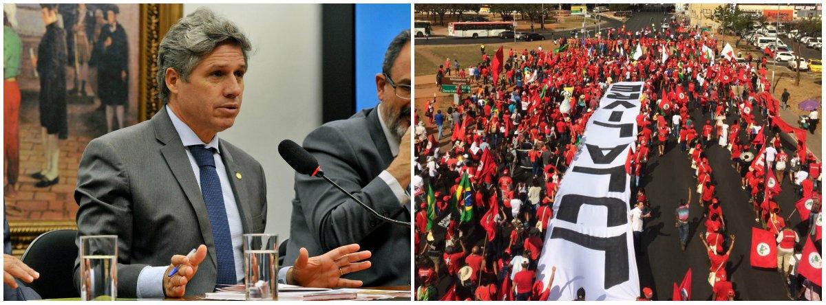 Teixeira: nada pode deter o povo de retomar sua soberania