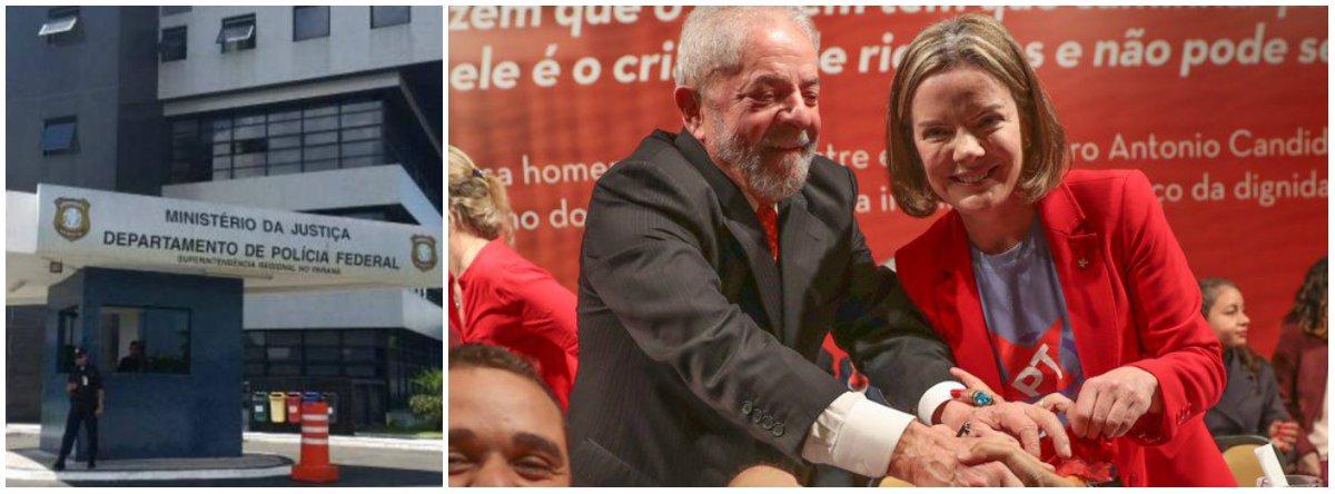 """Lava Jato diz que Lula transformou PF em """"comitê"""" e pede restrição a visitas de Gleisi"""