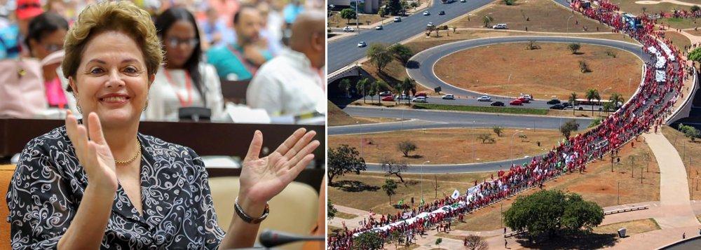 Dilma: Marcha em defesa de Lula é um ato de bravura