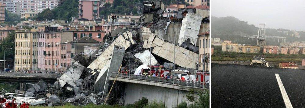 Governo italiano exige respostas após queda de ponte em Gênova