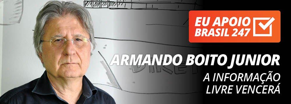 Armando Boito Junior apoia o 247: a informação livre vencerá