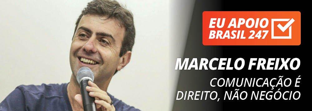Marcelo Freixo apoia o 247: comunicação é direito, não negócio