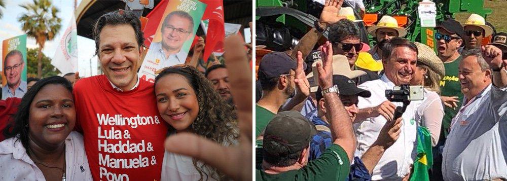 Bolsonaro sobe 4 pontos depois da facada em pesquisa do mercado; eleição está entre ele o PT