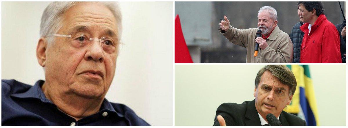 FHC sugere apoio tucano ao PT contra Bolsonaro