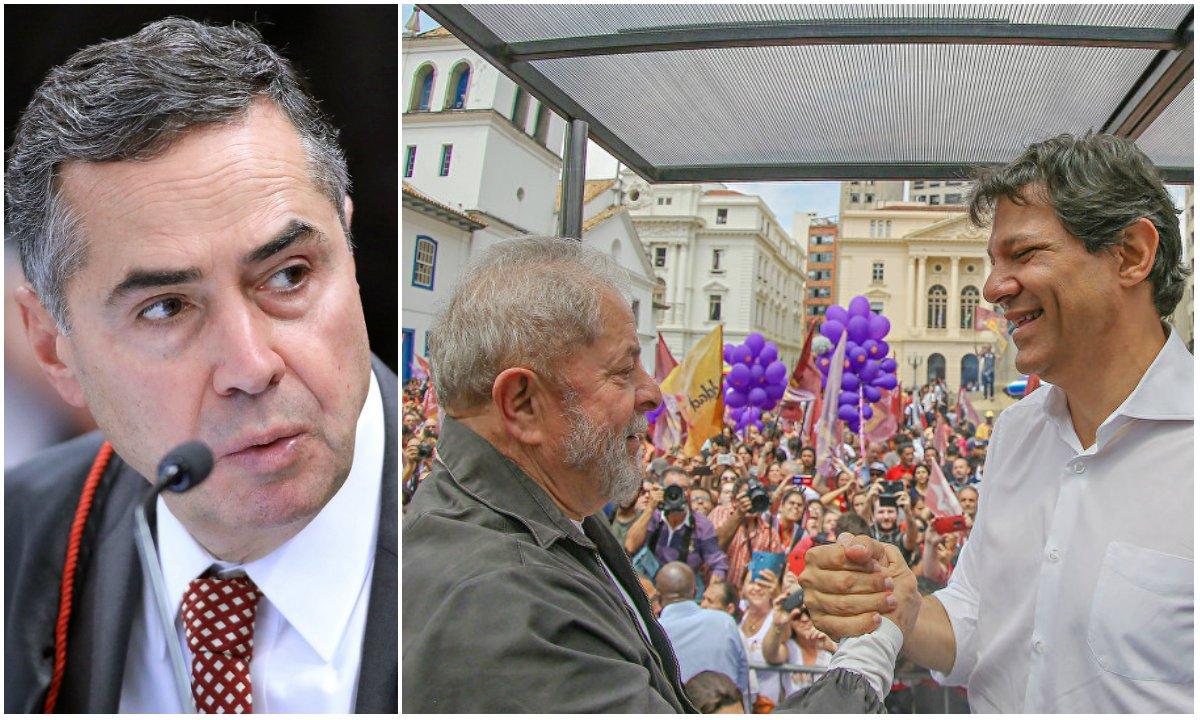 Barroso censura a palavra Lula para prejudicar Haddad e o PT
