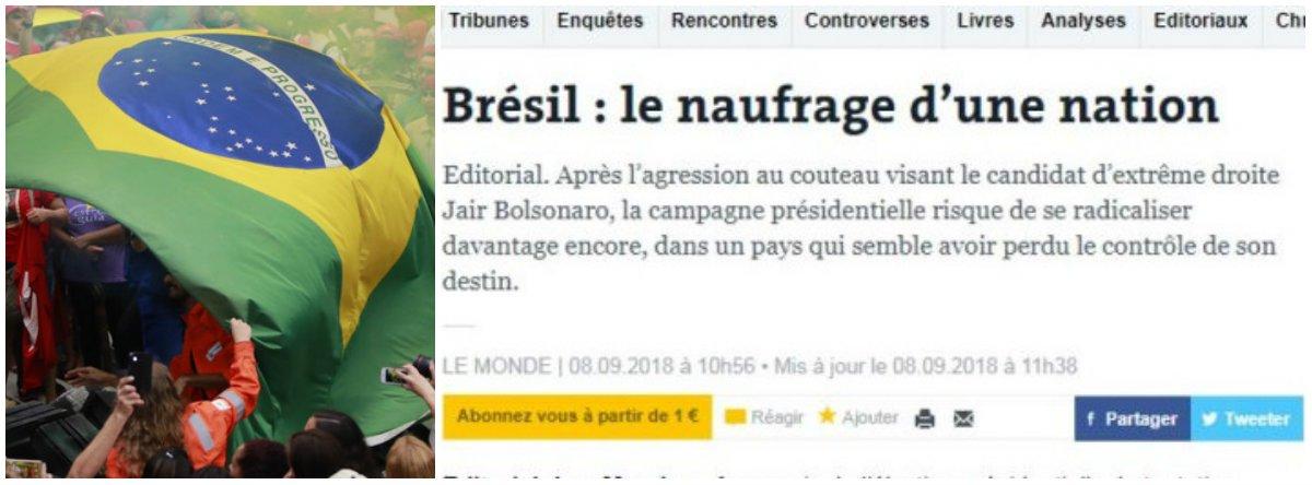 Em editorial, Le Monde diz que Brasil perdeu o controle do seu destino