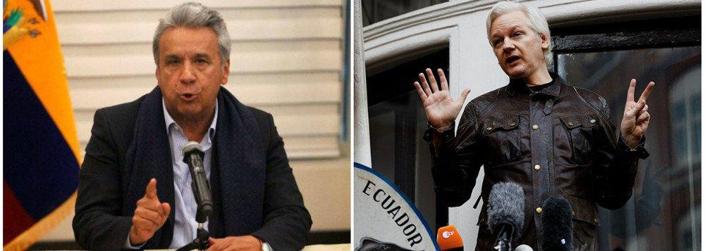 Lenín Moreno decide entregar fundador do Wikileaks