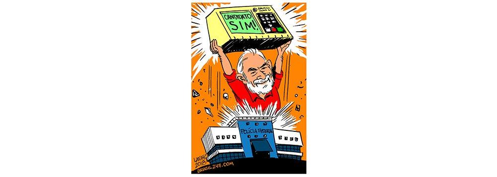 Latuff registra dia histórico da candidatura Lula