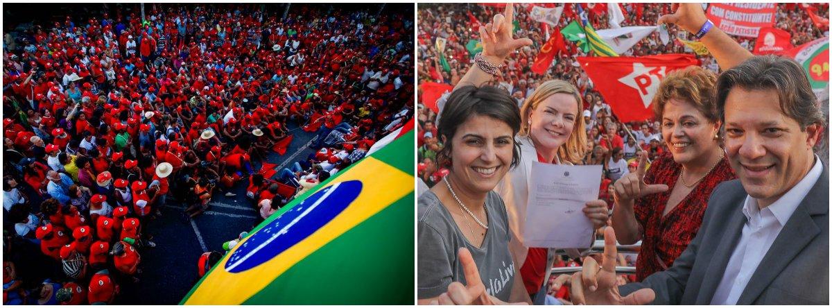 Haddad lê carta de Lula após registro: não quero favor, quero Justiça