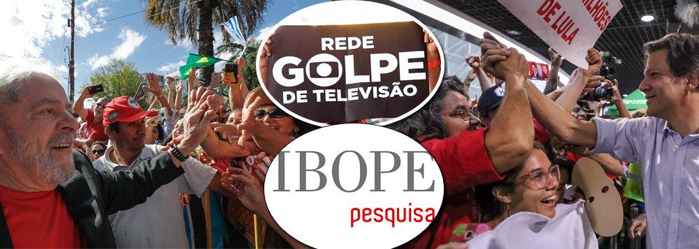 Globo-Ibope esconderam: potencial de voto em Haddad foi de 27% para 39% em duas semanas