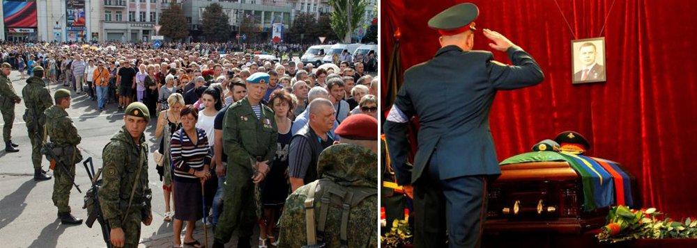 Multidão se despede de líder revolucionário do leste ucraniano