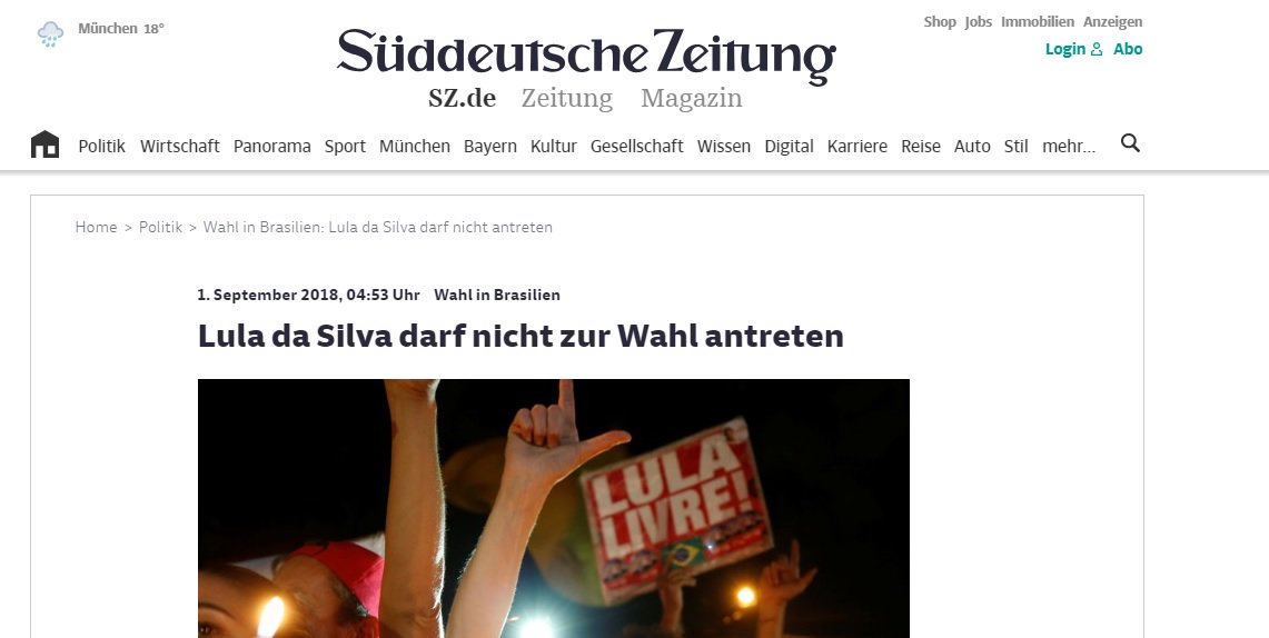 Na imprensa alemã, Brasil vira criança problemática