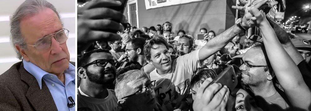 Janio de Freitas: adensamento eleitoral de Haddad é evidente