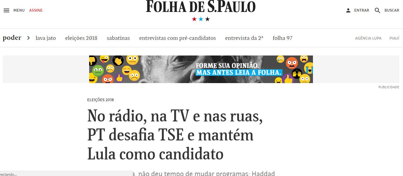 Tijolaço: ira da imprensa mostra acerto da reação pró-Lula do PT