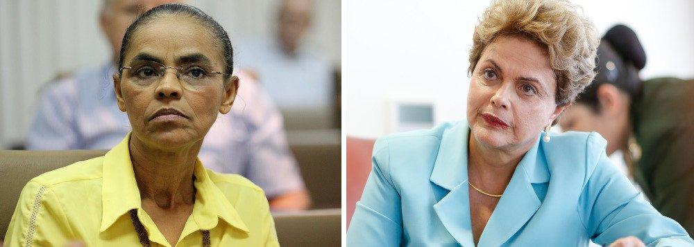 Dilma rebate Marina Silva: sempre foi dissimulada, agora difama