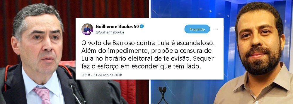 Boulos: História lembrará de Barroso, que aumentou salários de juízes e negou a ONU