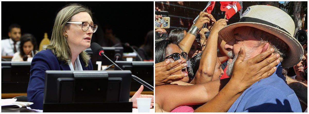Maria do Rosário: Lula pode voltar e devolver ao povo direitos roubados