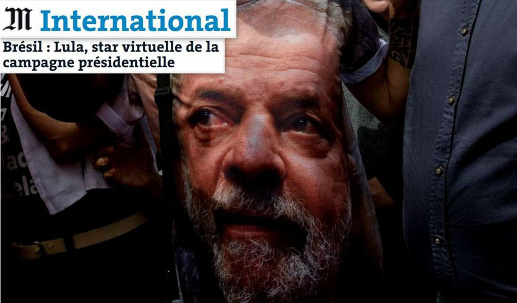 Lula é a estrela virtual da campanha eleitoral no Brasil, diz Le Monde