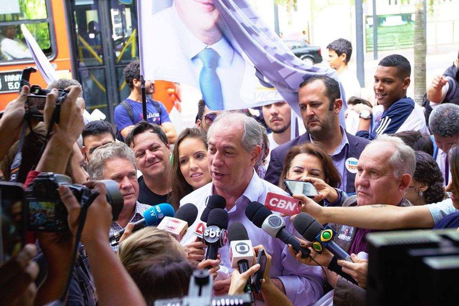 Ciro diz que Bolsonaro, se eleito, precipitaria uma guerra civil
