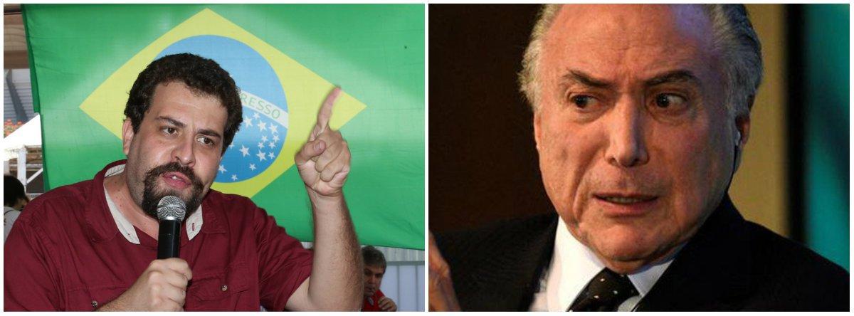 """Boulos critica """"esculhambação"""" de Temer e do Judiciário"""