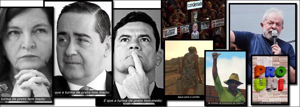 Novo vídeo da campanha de Lula nas redes: a turma de preto tem medo