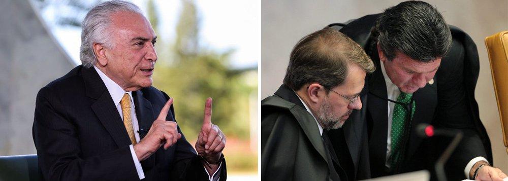 Temer fecha acordo por reajuste de 16,38% a ministros do STF