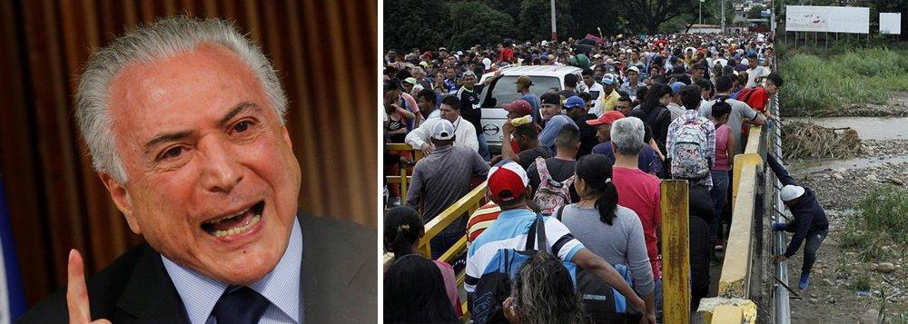 Temer quer limitar entrada de venezuelanos por meio de senhas