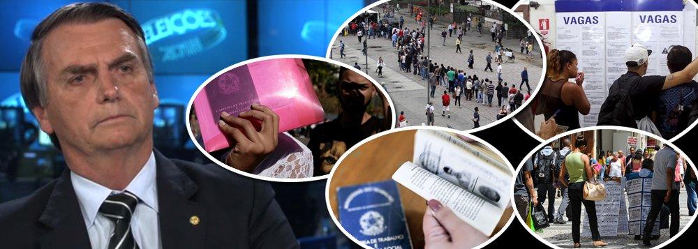 Votar em Bolsonaro é concordar que 65 milhões continuem sem trabalho