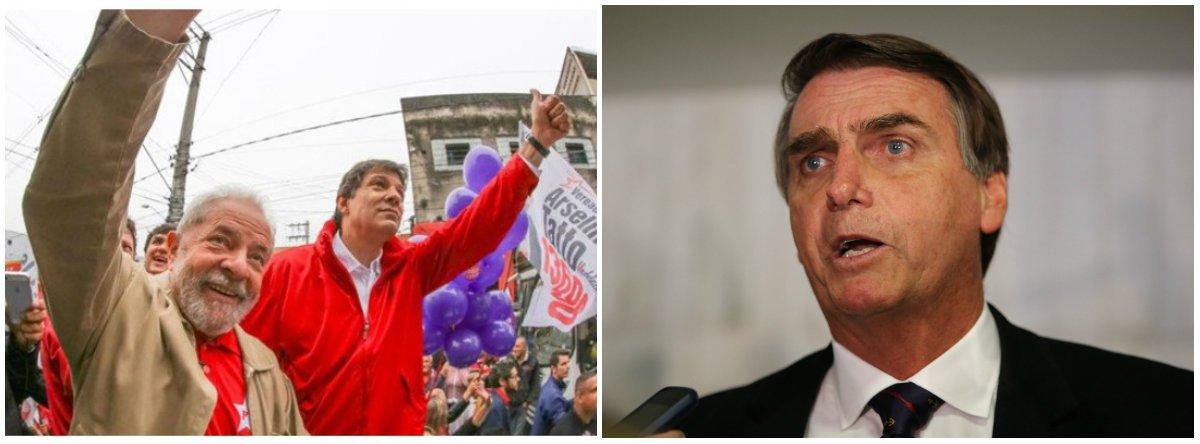 Haddad já passa para o segundo turno contra Bolsonaro, aponta pesquisa