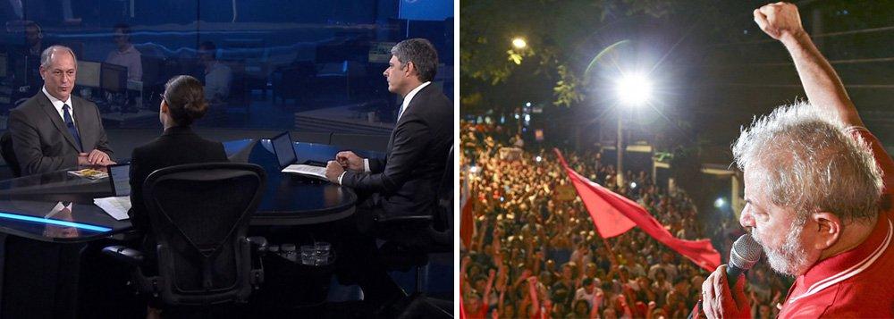 Jornal Nacional tenta esconder Lula mas fracassa