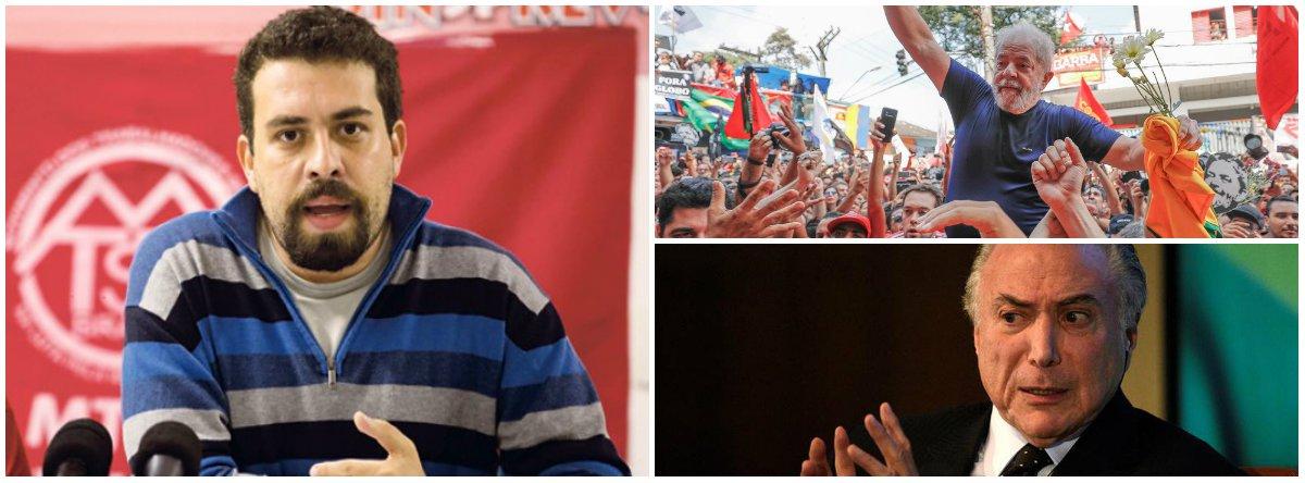 Boulos critica agenda sem 'respaldo das urnas e prisão política do Lula'