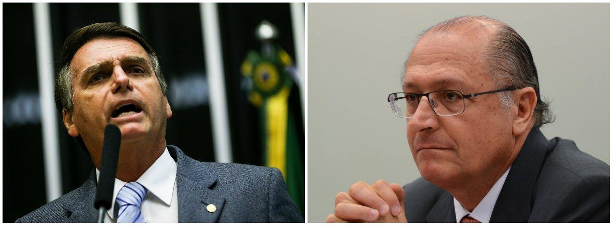 Bolsonaro é mais perigoso que Alckmin