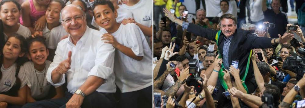 PSDB de São Paulo troca Alckmin por Bolsonaro