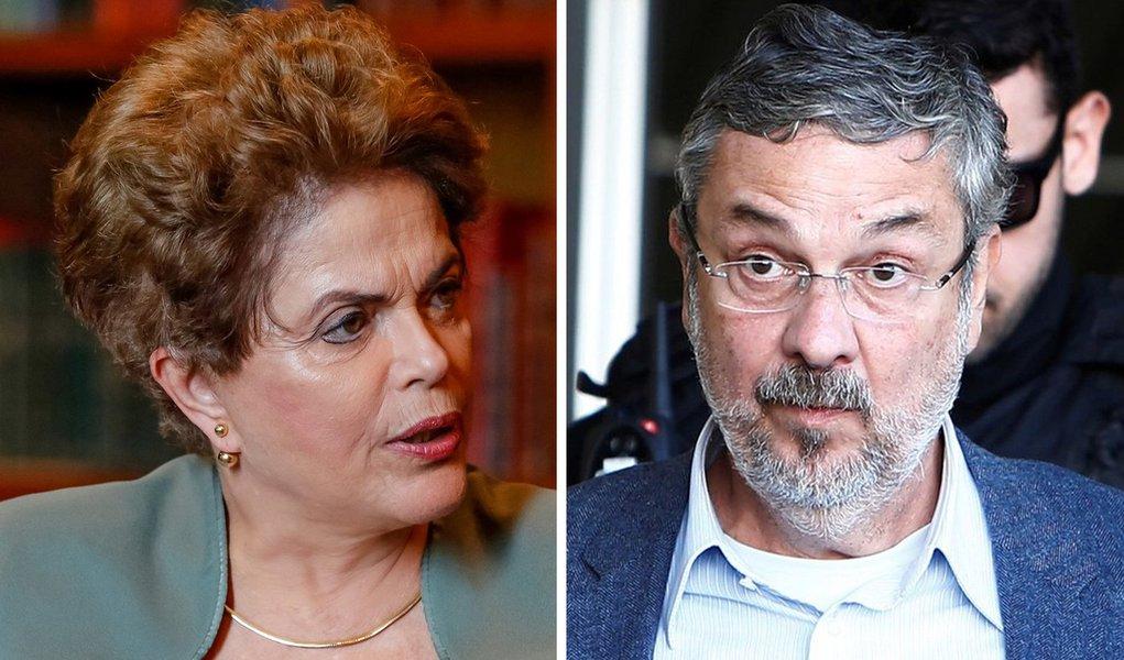 """Dilma: """"delação de Palocci é um dos momentos mais vexaminosos da política brasileira"""""""