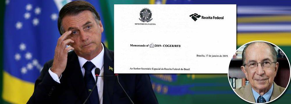 Corregedor da Receita alerta: Bolsonaro desmonta sistema de combate à corrupção