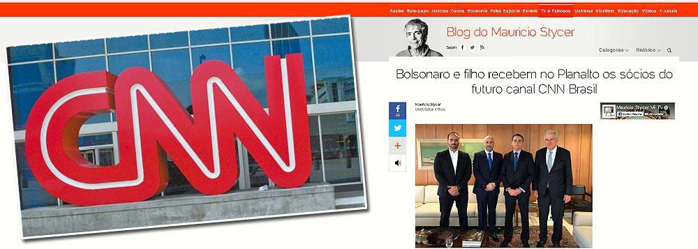 Bolsonaro e filho recebem sócios da CNN Brasil em sua guerra contra a Globo