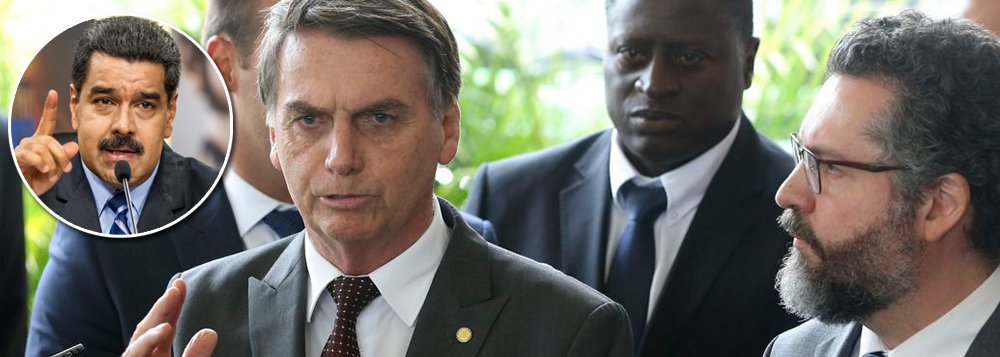 Bolsonaro quer liderar movimento global por golpe na Venezuela