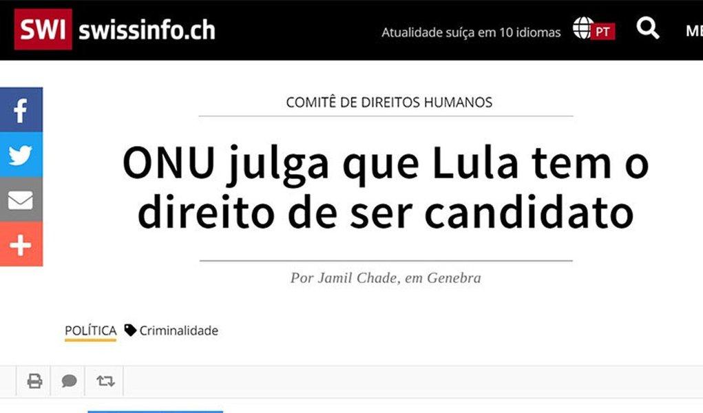 Estado de S. Paulo esconde entrevista com jurista da ONU favorável a Lula