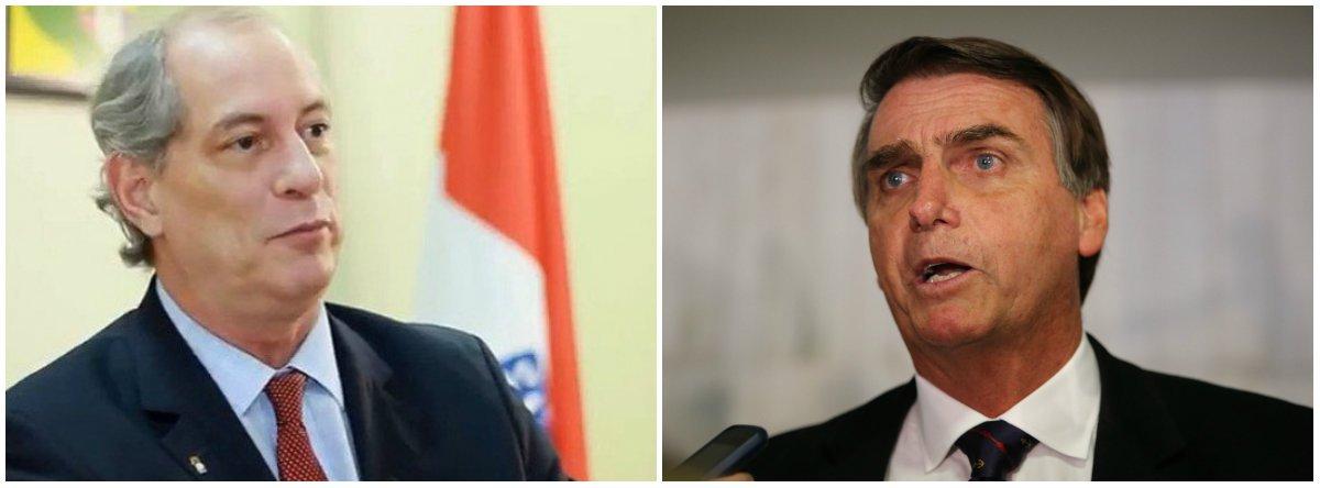 Ciro sobre Bolsonaro: se não aguenta brincar, não desce para o play