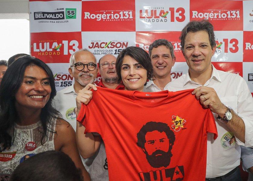 """""""A chapa Lula-Haddad é imbatível"""", diz Manuela"""