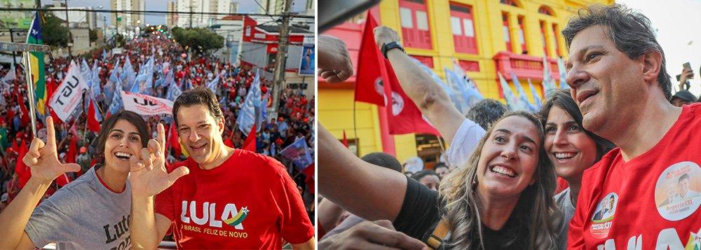 Haddad: nossa caminhada só termina com o Lula na rampa do Planalto