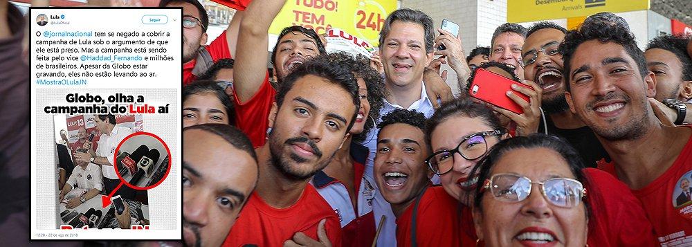 Lula: Globo grava, mas não exibe campanha de Haddad