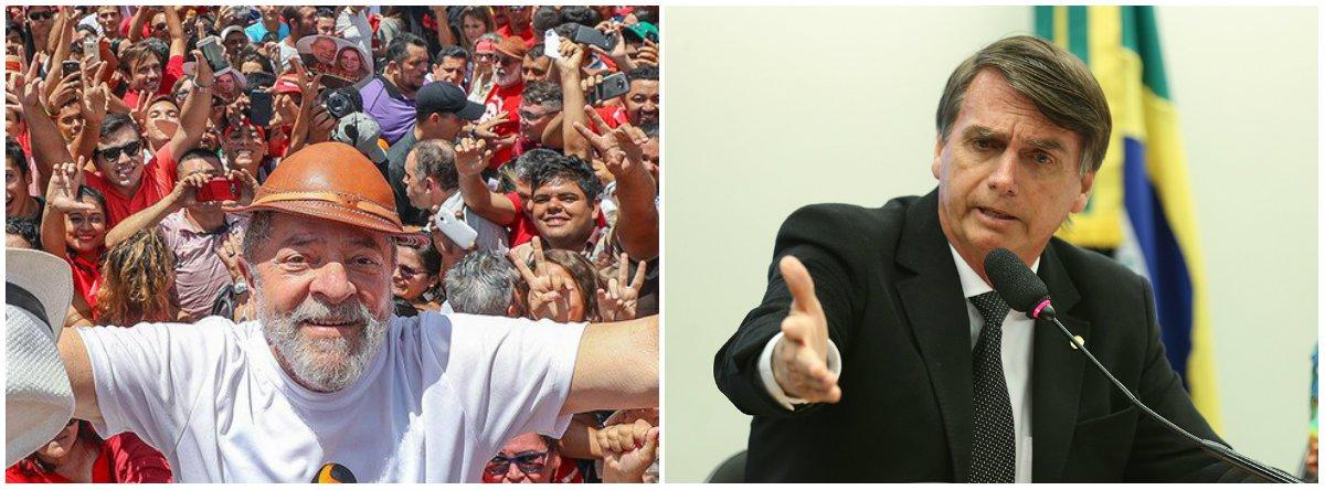 Eleitores mais pobres apoiam Lula e os mais ricos Bolsonaro, diz Ibope