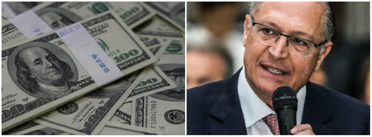 Dólar vai a R$ 4 com fiasco de Geraldo Alckmin