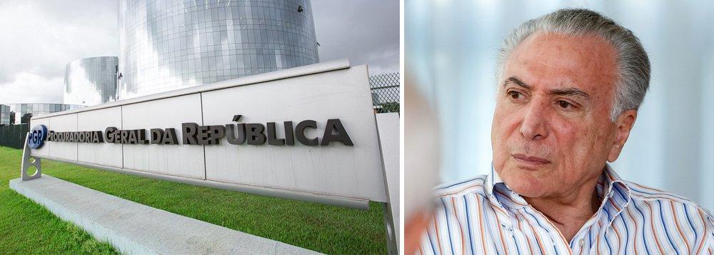 PGR cobra do governo Temer explicações sobre investigação de lavagem de dinheiro