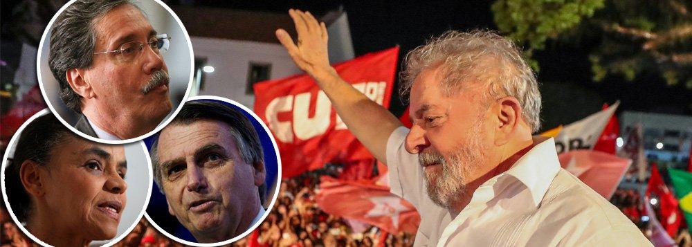 Depois de Marina e Bolsonaro, Merval diz que pesquisa com Lula não vale