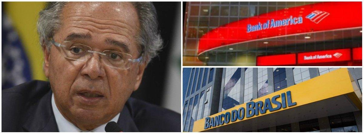 (Vídeo) Guedes diz nos EUA que entregará Banco do Brasil ao Bank of America
