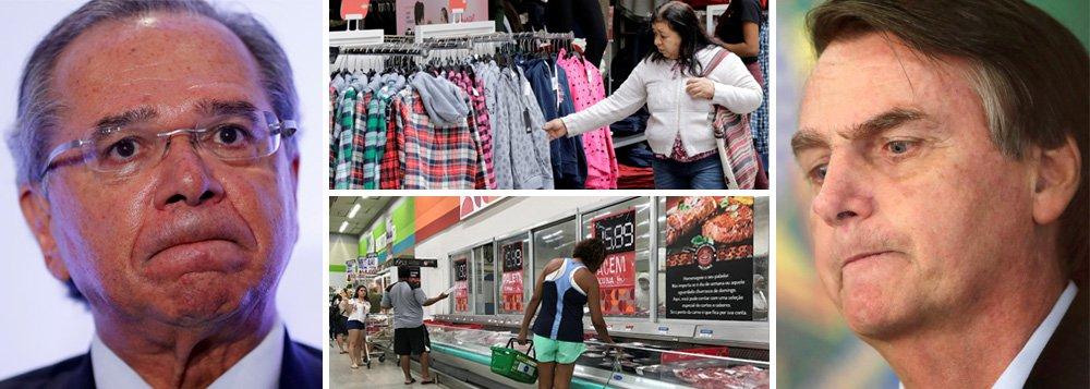 Com economia estagnada, confiança do comércio despenca 5,4 pontos em maio