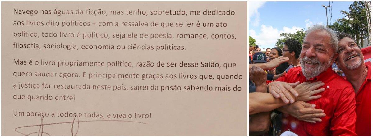 Lula saúda os livros: sairei da prisão sabendo mais do que entrei